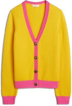 Color-Block Cashmere Cardigan