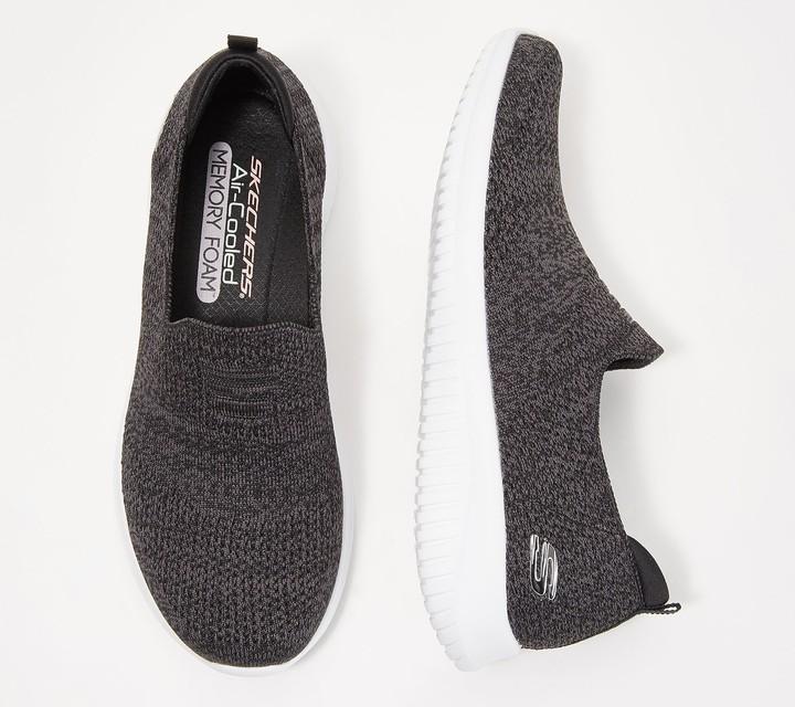 Skechers Ultra Flex Flat Knit Slip-On