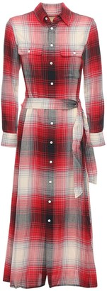 Polo Ralph Lauren Check Cotton Blend Long Dress