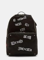 Valentino Jamie Reid Patch Backpack In Black