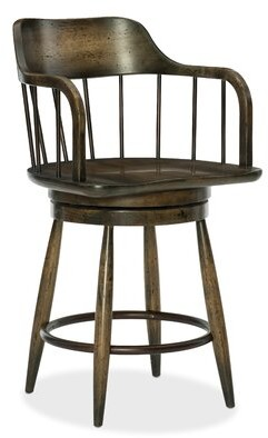 "Hooker Furniture American Life-Crafted Swivel 25"" Counter Stool"