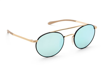 Krewe Driskill Round Titanium Sunglasses