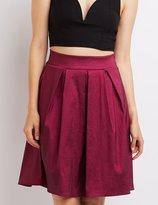 Charlotte Russe Pleated Midi Skirt