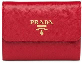 Prada trifold logo wallet