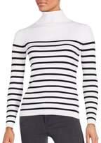 Saks Fifth Avenue BLACK Tonal Stripe Top