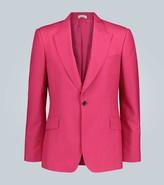 Alexander McQueen Selvedge wool and mohair-blend blazer