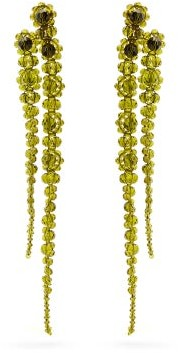 Simone Rocha Double Drip Crystal-embellished Earrings - Green