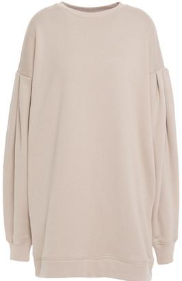 Ninety Percent Gathered Organic French Cotton-terry Mini Dress