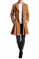 trina Trina Turk Paige Wool Blend Fit & Flare Coat