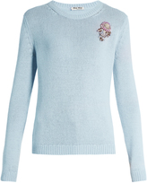 Miu Miu Floral-embellished cashmere sweater