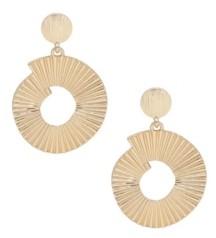Ettika Textured Swirl Gold Drop Earrings