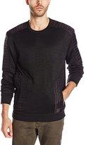 Calvin Klein Jeans Men's Quilt Crew Zip Sweatshirt