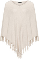 Jette Joop Plus Size Cashmere-blend fringed poncho