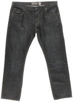 INC Mens Berlin Baked Creases Slim Straight Leg Jeans Black 32/32