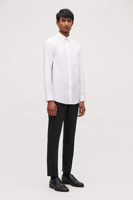 Cos COTTON-POPLIN SHIRT WITH POCKET