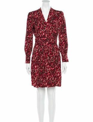 Equipment Animal Print Knee-Length Dress w/ Tags Red