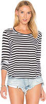 LnA Stripe Bolero Long Sleeve Tee in Black & White. - size M (also in S,XS)