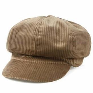 RAINWEAR Women Vintage Baker Boy Cap Peaked Beret Hat Flat Cap Khaki
