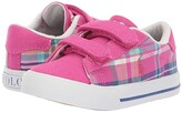 Polo Ralph Lauren Easten II EZ (Toddler) (Sport Pink/Madras Plaid/Canvas/White Pony) Girl's Shoes