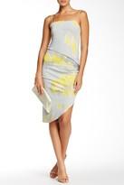 Halston Asymmetrical Cocktail Dress