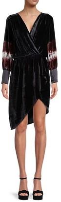 Young Fabulous & Broke Asymmetric Velvet Dress