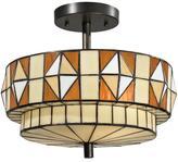 Dale Tiffany Westcott Semi-Flush, Ceiling-Mounted Lamp
