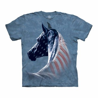 The Mountain Patriotic Horse Head Adult T-Shirt