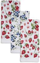 Sur La Table Strawberry & Blueberry Kitchen Towels