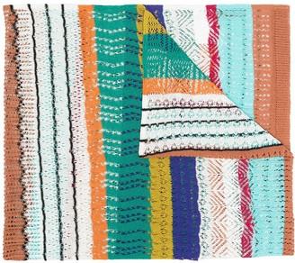 Missoni Fine Knit Stripe Scarf
