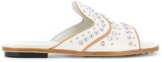 Tod's Crystal And Stud-Embellished Slides