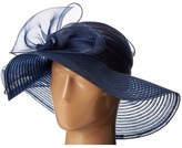 San Diego Hat Company DRS1010 Derby Round Crown Hat with Organza Oversized Bow