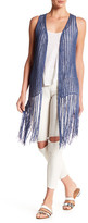 BCBGMAXAZRIA Mix It Crochet Fringe Vest