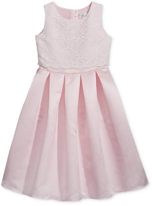 Us Angels Lavender by Lace-Bodice Satin Dress, Toddler Girls