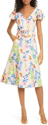 Tanya Taylor Jan Fit & Flare Dress