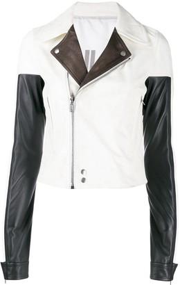 Rick Owens colour block leather jacket