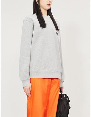 Stussy Loni graphic-embroidered cotton-jersey sweatshirt
