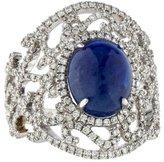 Ring 18K Sapphire & Diamond