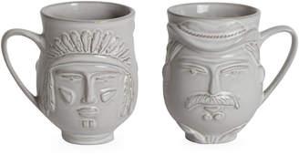 Jonathan Adler Reversible Cowboy/Indian Macho Macho Mug