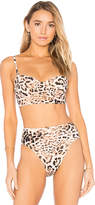 Norma Kamali Underwire Top in Brown. - size L (also in M,S,XS)