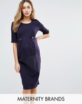 Isabella Oliver Short Sleeve Dress With Button Detail