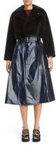 Toga Women's Faux Fur Crop Coat