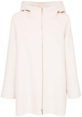 Hooded Wool Zip-up Jacket