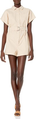 The Fifth Label Women's Collared Short Sleeve Closure Utility Playsuit