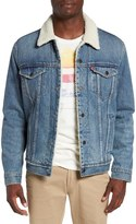 Levi's Sherpa Fleece Lined Denim Trucker Jacket