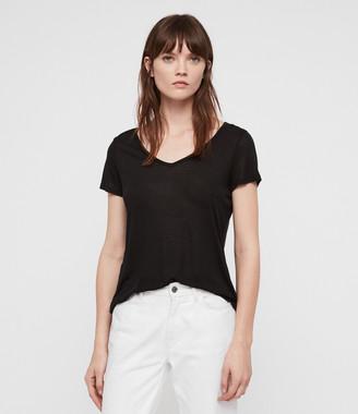 AllSaints Malin Silk T-Shirt