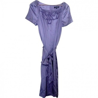 Georges Rech Purple Silk Dress for Women
