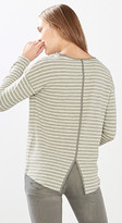 Esprit Long sleeve top w textured stripes