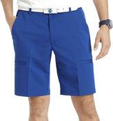 Izod Herringbone Flat-Front Cargo Shorts