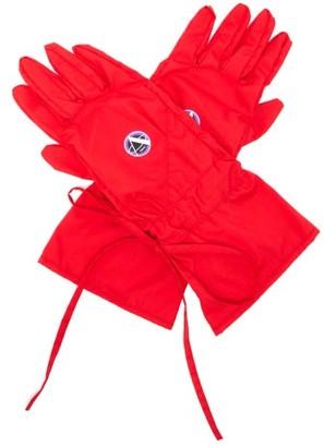Raf Simons Apollo-print Poplin Gloves - Red