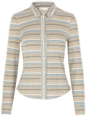 Stine Goya Jana Shirt in Stripes Blue